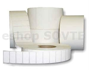 Cotton White  3/6  -102mm x76mm  - 450 etiket na roli